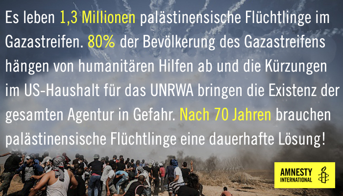 Gaza Grafik mit Text